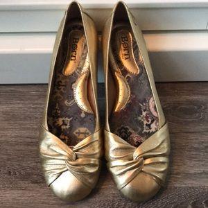 Born Gold Ballet Flats Size 6 1/2 37
